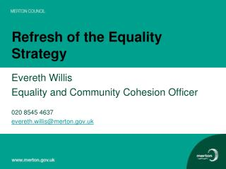 Refresh of the Equality Strategy