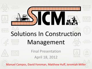 Solutions In Construction Management