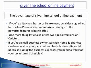 Benefit of using silver line school online payment