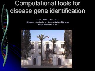 Computational tools for disease gene identification
