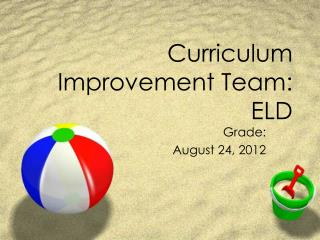 Curriculum Improvement Team: ELD
