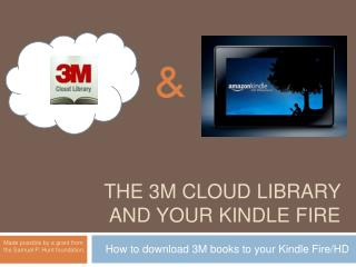 The 3m cloud library and your kindle fire