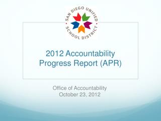 2012  Accountability  Progress Report (APR)