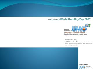 On the occasion of  World Usability Day 2007