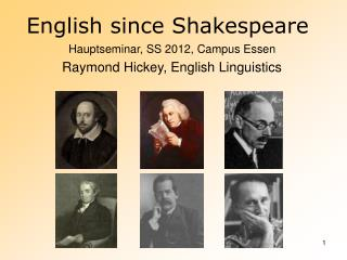 English since Shakespeare