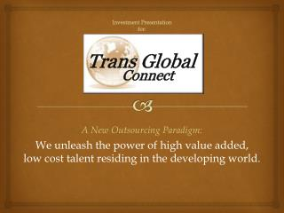 Investment Presentation  for: