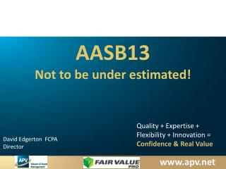 AASB13 Not to be under estimated!
