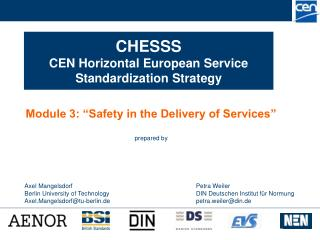 CHESSS  CEN Horizontal European Service Standardization Strategy