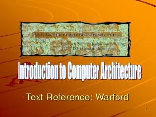 Text Reference: Warford