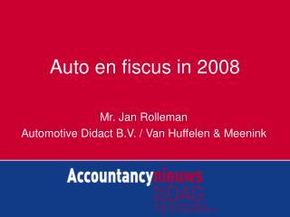 Auto en fiscus in 2008