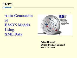 Auto-Generation of EASY5 Models Using XML Data