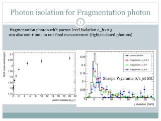 Photon isolation for Fragmentation photon