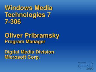 Windows Media Everywhere