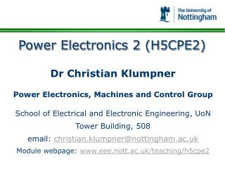 Power Electronics 2 (H5CPE2)