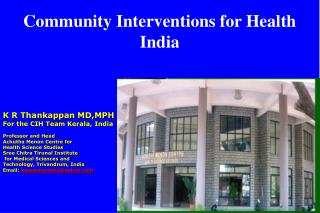 Community Interventions for Health India