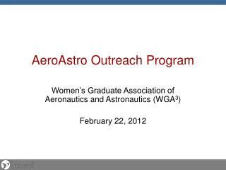 AeroAstro  Outreach Program