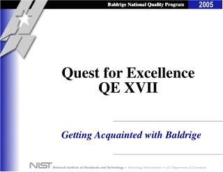 Quest for Excellence QE XVII