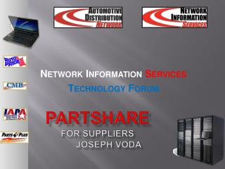 PartShare for Suppliers 	Joseph Voda