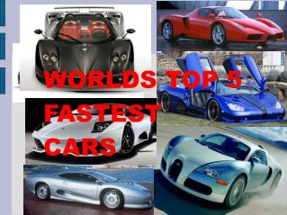 WORLDS TOP 5 FASTEST CARS