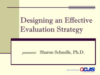 Designing an Effective Evaluation Strategy