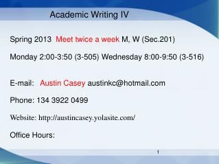 Academic Writing IV