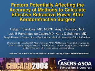 Factors Potentially Affecting the Accuracy of Methods to Calculate Effective Refractive Power After Keratorefractive Sur