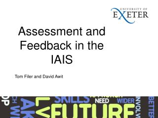 Assessment and Feedback in the IAIS