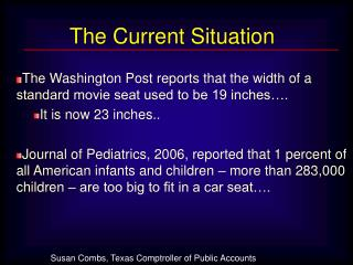 The Washington Post reports that the width of a standard movie seat used to be 19 inches….