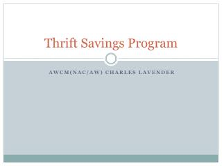 Thrift Savings Program