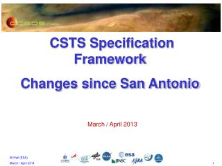 CSTS Specification Framework Changes since  San Antonio
