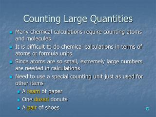 Counting Large Quantities
