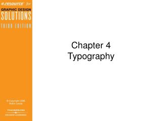 Chapter 4 Typography