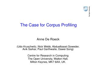 The Case for Corpus Profiling