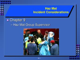Chapter 9 Haz Mat Group Supervisor