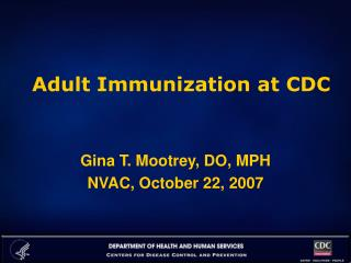 Adult Immunization at CDC