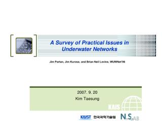 A Survey of Practical Issues in Underwater Networks