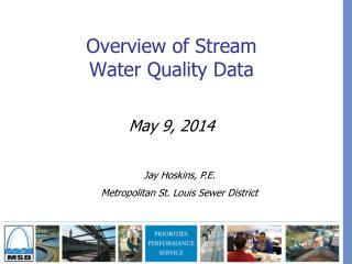 Overview of Stream  Water Quality Data