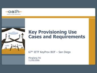 Key Provisioning Use Cases and Requirements