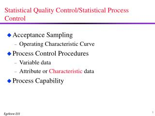 Statistical Quality Control/Statistical Process Control