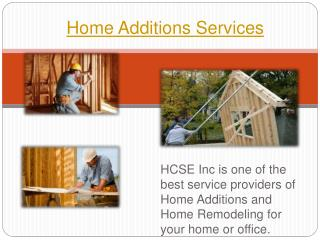 Home additions services by HSC