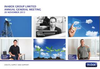INABOX GROUP LIMITED Annual General meeting 20 November 2013
