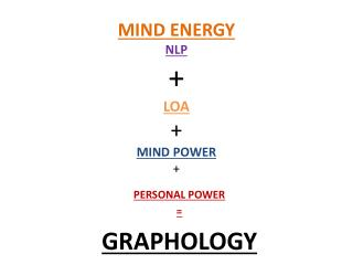 MIND ENERGY NLP + LOA + MIND POWER +