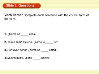 Slide 1 Questions