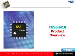 TUSB3410  Product Overview