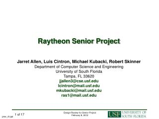 Raytheon Senior Project