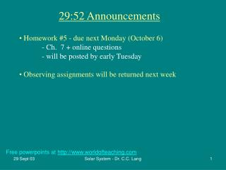 29:52 Announcements