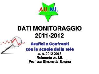 DATI MONITORAGGIO  2011-2012