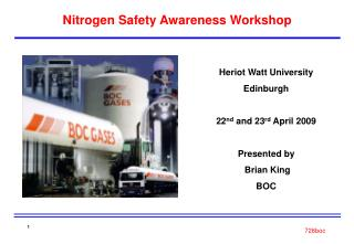 Nitrogen Safety Awareness Workshop