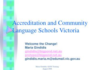 Accreditation and Community   Language Schools Victoria