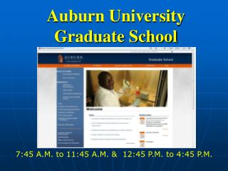 Auburn University  Graduate School